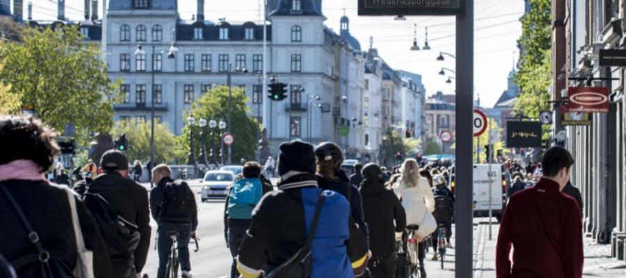 Trængsel på cykelstien i København