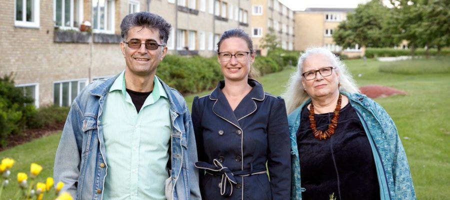 Ali Hansen og Bente Møller fra Enhedslisten Brønshøj-Husum og Teknik- og miljøborgmester for Enhedslisten Ninna Hedeager Olsen (i midten).