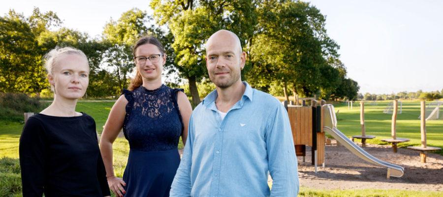 Borgerrepræsentationsmedlemmer for Enhedslisten Charlotte Lund og Ulrik Kohl med Teknik- og miljøborgmester for Enhedslisten Ninna Hedeager Olsen (i midten).