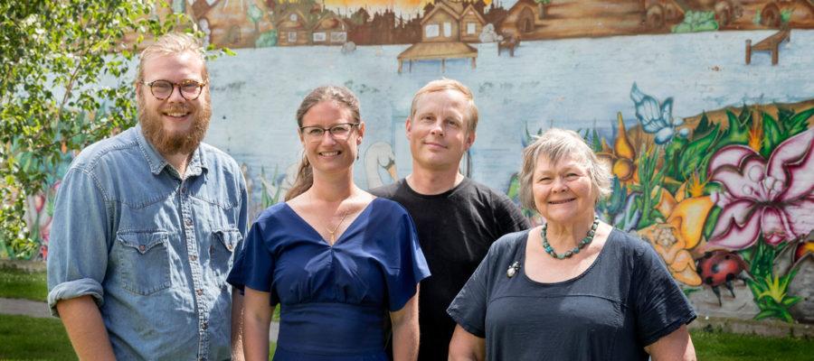 Rasmus Holme Nielsen, Jean Thierry og Susanne Langer fra Enhedslisten Nordvest og Teknik- og miljøborgmester for Enhedslisten Ninna Hedeager Olsen (nr. 2 fra venstre).