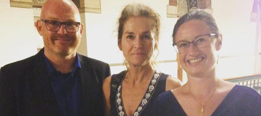 Enhedslisten Københavns forhandlerhold: Teknik- og Miljøborgmester Morten Kabell, gruppeformand Karina Vestergård Madsen og borgmesterkandidat Ninna Hedeager Olsen.