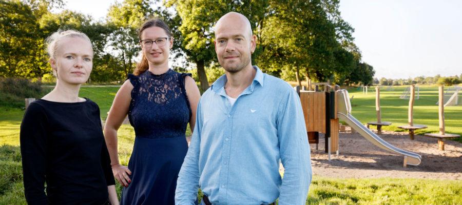 Enhedslistens spidskandidater Charlotte Lund, Ninna Hedeager Olsen og Ulrik Kohl.
