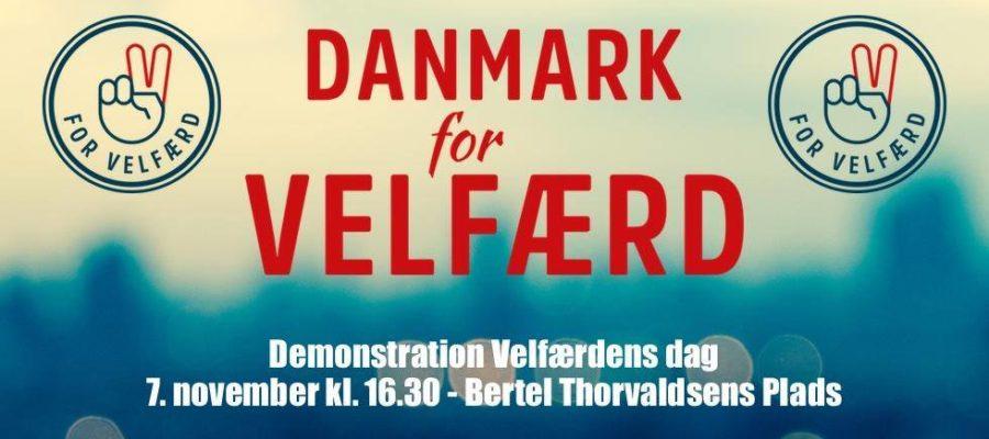 Demonstration på Velfærdens Dag klokken 16:30 på Bertel Thorvaldsens Plads