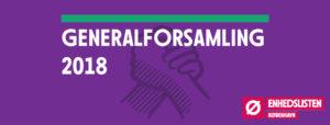 Generalforsamling 2018 i Enhedslisten København @ København | Danmark