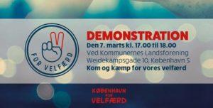 DEMO: Vi kræver 6 milliarder ekstra til kommunal velfærd @ Kommunernes Landsforening | København | Danmark