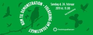 Demonstration mod at ophæve fredninger ved lov @ København | Danmark